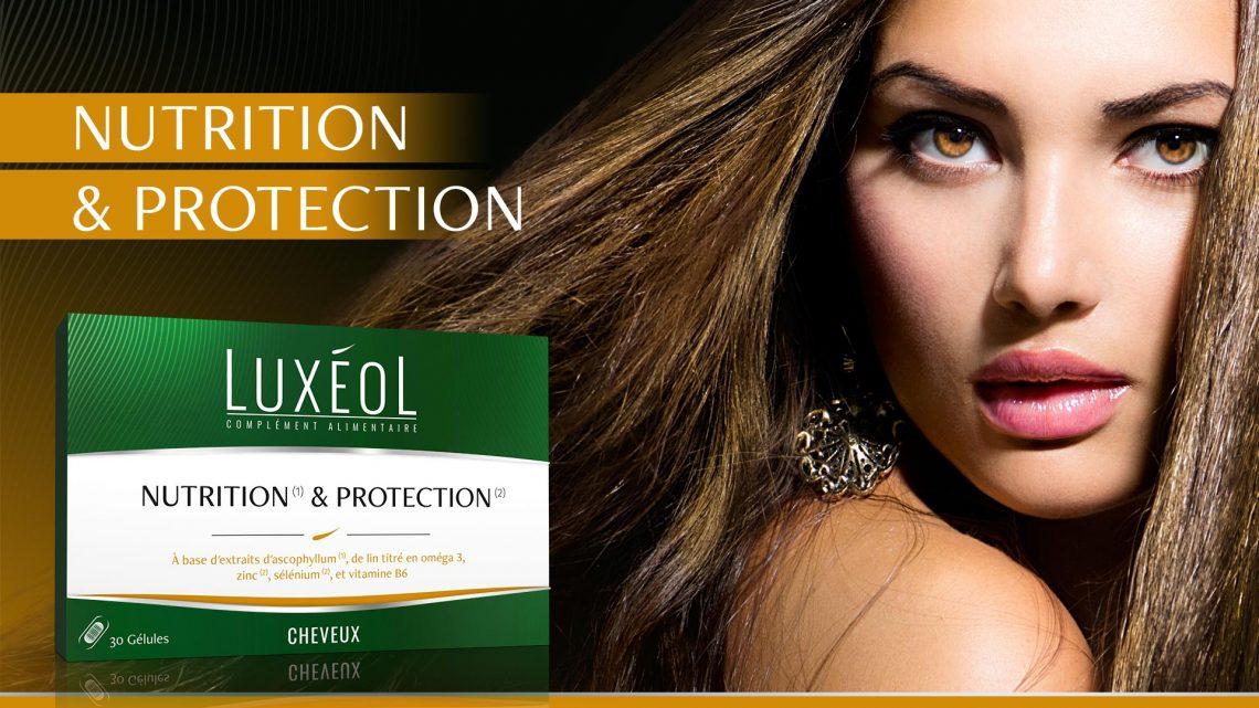 Cheveux nourris et protégés avec Luxéol nutrition et protection